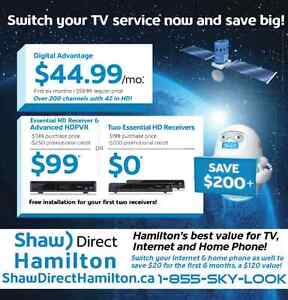 Shaw back in Hamilton with Shaw Direct TV, Home Phone & Internet