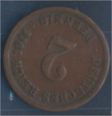 Deutsches Reich Jägernr: 11 1914 F sehr schön Bronze 1914 2 Pfennig (7848977