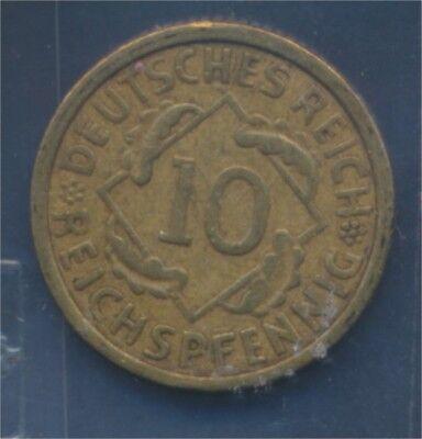 Deutsches Reich Jägernr: 317 1930 G sehr schön 1930 10 Reichspfennig (7879647