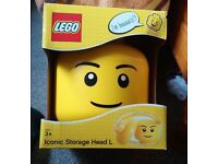 Large lego storage head brand new in box