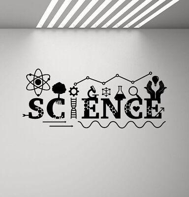 Science Wall Decal Classroom Decor Teacher Vinyl Sticker DNA School Poster 930 - Science Decor