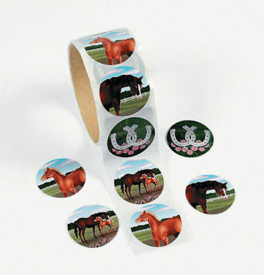50 Themed Party (50 Horse Pony Stickers Teacher Supply Party Favors Farm Barn Western Theme)