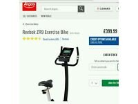 Reebok ZR9 exercise bike with XB0009 console