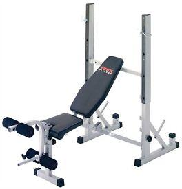 York b540 heavy duty weight bench/squat rack