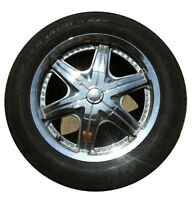 4 Chrome Rims and Toyo radial tires (Best Offer)