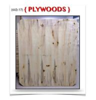 """(443-17)  PLYWOODS {48""""x 42""""x 5/8""""} 3.99$ /ch.  """"COINS RONDS"""""""