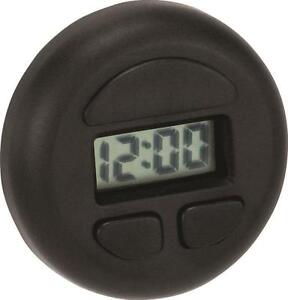 Stick-On Round Digital Clock Also displays date Hook & loop mounting tape