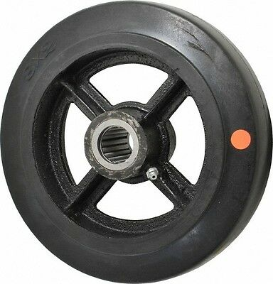 Fairbanks 8 Inch Diameter X 2 Inch Wide Rubber Caster Wheel 1000 Lb. Capaci...