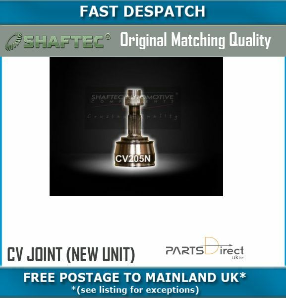 CV205N 5149 OUTER CV JOINT (NEW UNIT) FOR FIAT PUNTO 1.2 01/01-05/04