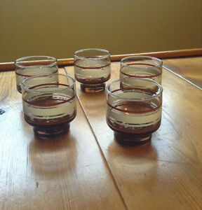 Set of Five Vintage Glasses