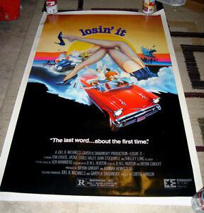 1983 LOSIN' IT TOM CRUISE SHELLEY LONG 1956 CHEVY POSTER NM
