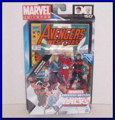 "MARVEL UNIVERSE 3.75"" COMIC PACKS - GREATEST BATTLES  - Wonderman & Quicksilver"