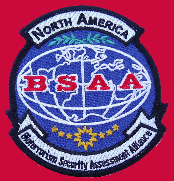 RESIDENT EVIL North America BSAA LOGO IRON ON PATCH BY MILTACUSA