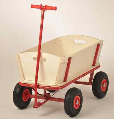 Bollerwagen Bubi Transportwagen Handwagen bis 150 kg aus Holz