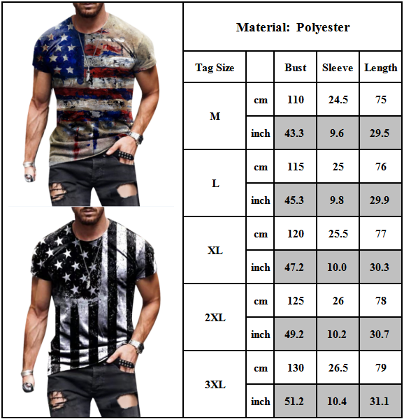 Men Summer Tee Printed Short Sleeve T-shirt Casual Sports Crew Neck Tops Blouse Clothing, Shoes & Accessories