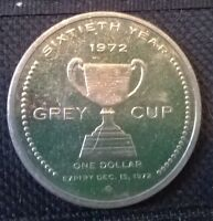 1972 Hamilton Grey Cup Coin...for sale