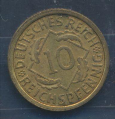 Deutsches Reich Jägernr: 317 1933 J Stgl./unzirkuliert 10 Reichspfennig (7879638