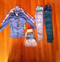 Lot de vêtements, chaussures & botte filles 88 pièces_4 à 7 ans