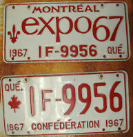 Plaque automobile - 1967 - License plate