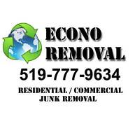 JUNK REMOVAL / ECONO REMOVAL/  INTERAC ACCEPTED!! 519-777-9634