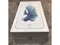 iphone 6S plus silver 16GB white Locked on O2, gif gaff and tessco, new!