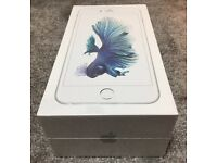 iphone 6S plus silver 16GB white Locked on O2, gif gaff and tessco! Not opned!