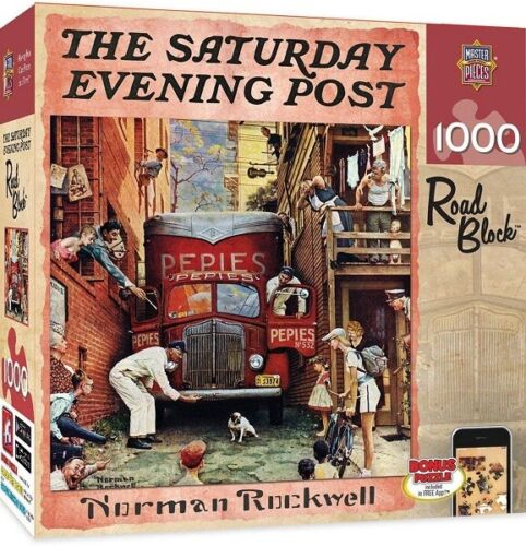 Masterpieces 1000 Piece Jigsaw Puzzle - The Saturday Evening Post: Road Block