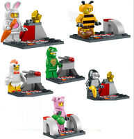 Lot of 6 minifigures of people in animal costumes