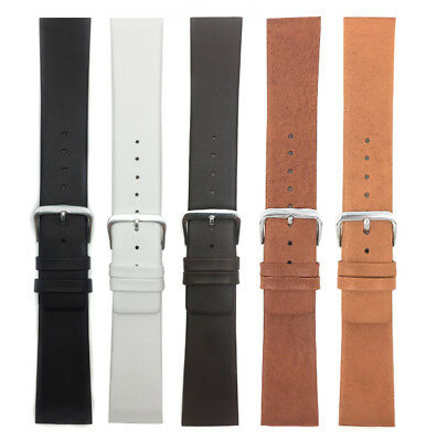 Genuine Leather Skagen Watch Strap Band,Screw, 12 to 31mm White Black Brown Tan