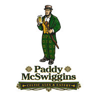 Bartenders and Servers  Needed - Paddy's