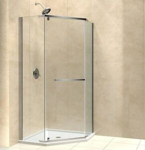 Prism Neo Angle Shower Enclosure 36 X 36 3 8 Glass Chrome Or Brushed Ni