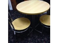 Nice Round Dining Table and 3 Chairs Good Condition Can Deliver Locally for £5