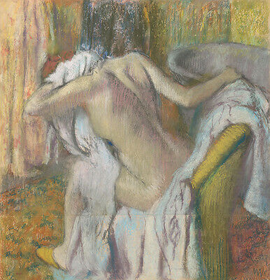 Edgar Degas - After the Bath Woman drying herself Vintage Fine Art