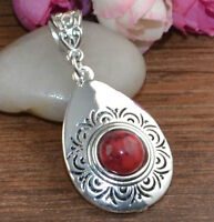 Classical turquoise tibet silver pendant with necklace