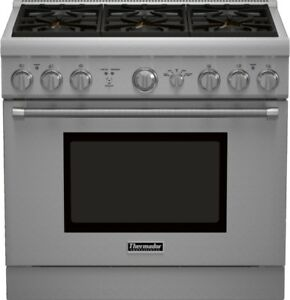 """36"""" Thermador Stainless Steel Gas Range $5999 New Uncrated"""