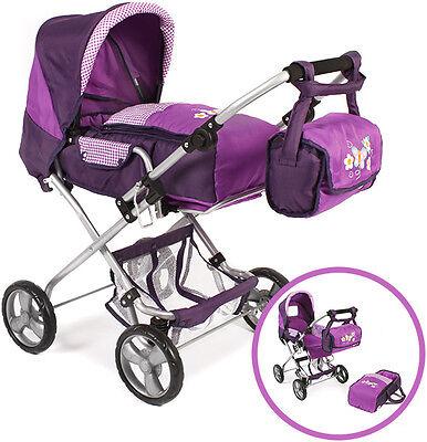 Bayer Chic 2000 Puppenwagen Bambina (Purple Checker)