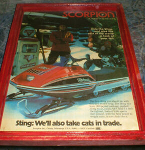 Scorpion snowmobiles- 6 vintage ads & pics - mounted