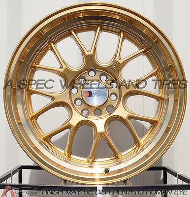 17X8.5 F1R F21 WHEEL 5x100/114.3 +35 GOLD RIM FITS ACCORD CIVIC CELICA MATRIX