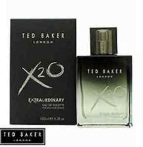 Ted Baker X2O Extraordinary Eau de Toilette Pour Homme Spray for Him, 100 ml