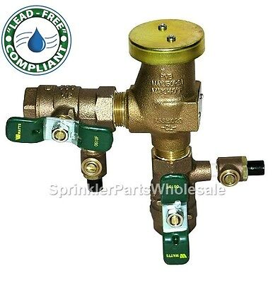 """Watts 3/4"""" LF800M4-QT Lead Free Pressure Vaccum Backflow Preventor 0792011 for sale  Shipping to India"""