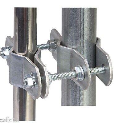 Antenna Mast Pole to Pole Mount - Easy Up EZ EC-PTP-4 Mast Bracket - USA Made