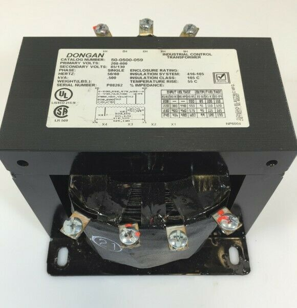 Dongan 50-0500-059 Trafo Control Transformer 500VA