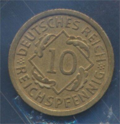 Deutsches Reich Jägernr: 317 1925 F vorzüglich 1925 10 Reichspfennig (7879593