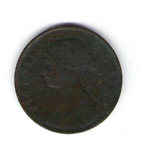 Coin 1880 Canada Newfoundland 1 Cent Penny
