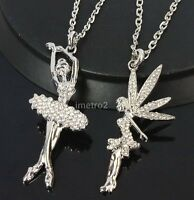fairy swarovski crystal chain necklace--NEW!