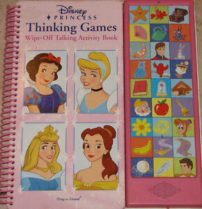 Disney Princess Thinking Games Wipe Off Talking Activity Book London Ontario image 1