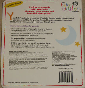 Baby Einstein - Poems for Little Ones BOARD Book London Ontario image 2