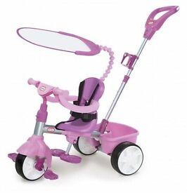 Pink/purple little tikes trike