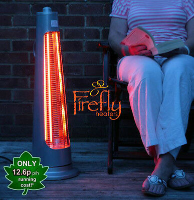 Firefly Streamline Free Standing Electric Halogen Patio Heater Garden Outdoor