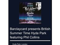2 BST Hyde Park Tickets - Phil Collins